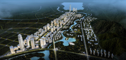 01 亿达长沙梅溪湖国际新城亿达中建 智慧科技中心 YIDA Changsha Meixihu CBD Planning YIDA CSCEC Intelligent ST Center
